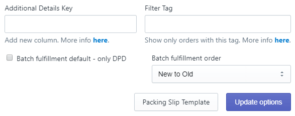 DPD options for all countries